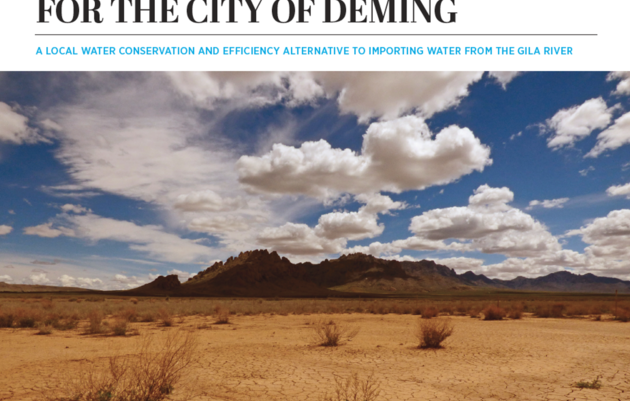 New Report Documents Water Conservation and Efficiency Solutions for Southwestern New Mexico's Largest Urban Population
