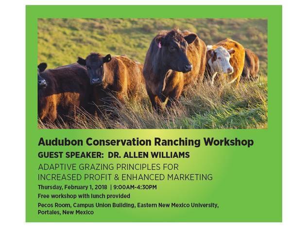 Audubon Offers Free Workshop on Adaptive Grazing Principles for Increased Profit and Enhanced Marketing