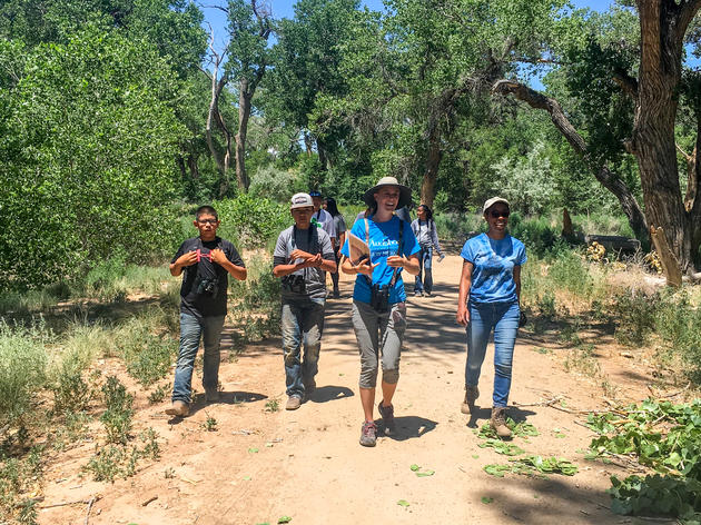 A hot New Mexico summer doesn't stop volunteers from working to restore our Bosque